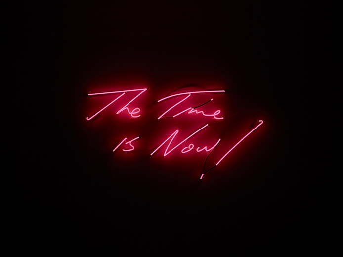 The Time Is Now 2014 Tracey Emin