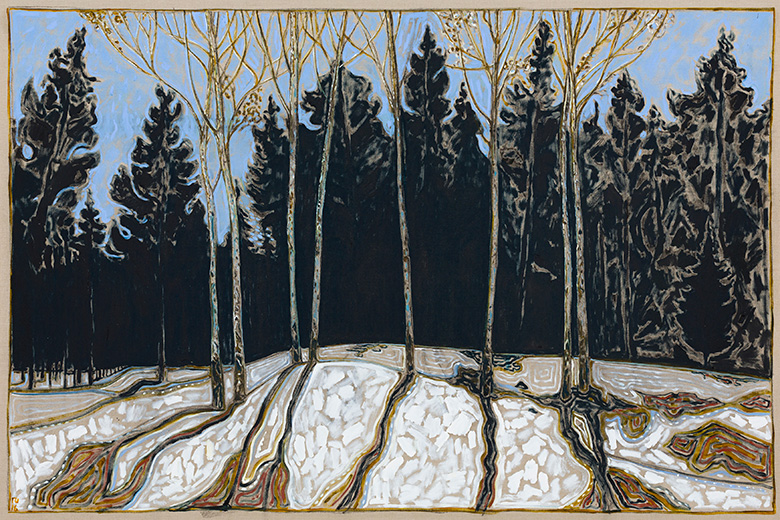 Stand Of Birch Trees 2016 Billy Childish