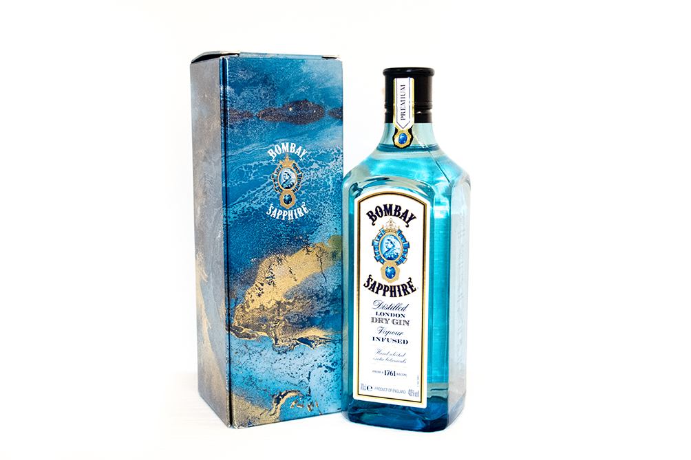 Limited edition Bombay Sapphire bottle uses the eye-catching and luxurious work of Beth Nicholas