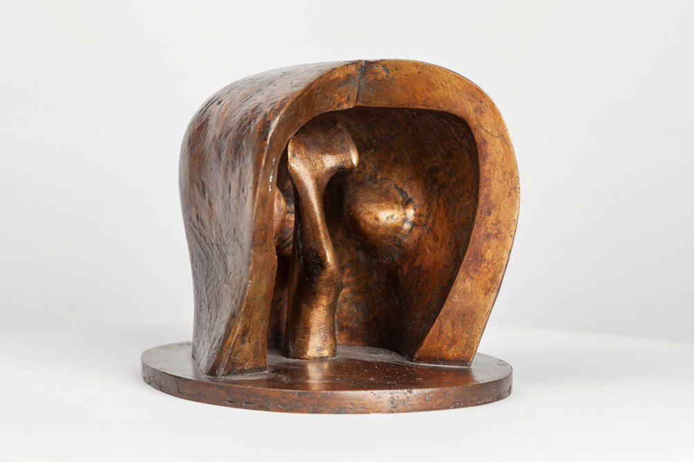 Maquette For Helmet Head No6 1975 The Henry Moore Foundation Photographed By Nigel Moore